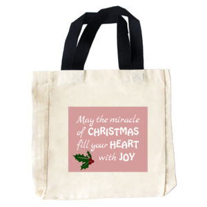 Christmas, Heart & Joy Tote Bag Thumbnail