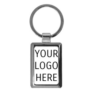 Corporate Metal Rectangular Keychain Thumbnail