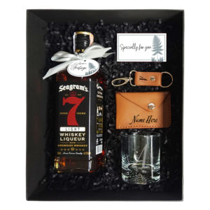 Christmas Whiskey and Leather Gift Set Thumbnail