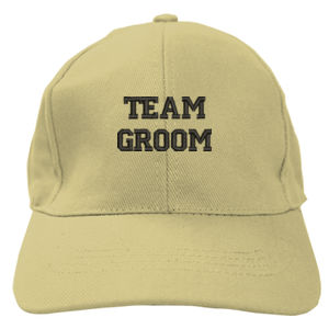 Team Groom Embroidered Baseball Cap Thumbnail