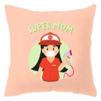 Super Mom Grocery Pillow Half Body (Fair) Thumbnail