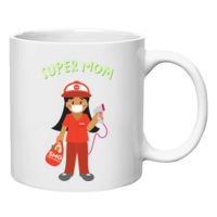 Super Mom Grocery White Mug Full Body (Dark) Thumbnail