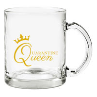Quarantine Queen Glass Mug Thumbnail