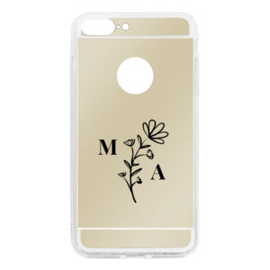 Floral Detail Personalized Mom's Initials iPhone 7/8 Plus Mirror Case Thumbnail