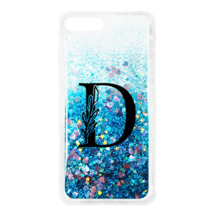 Monogram Initial Personalized iPhone 7/8 Plus Glitter Quicksand Case Thumbnail